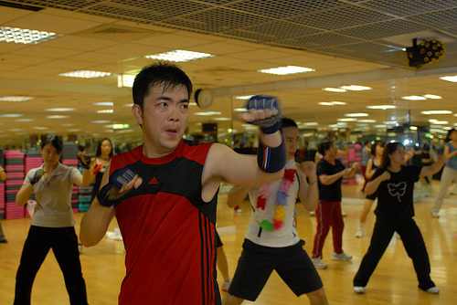 Sparring With The GRRRL In Mirror BodyCombat Class LIFE AS A