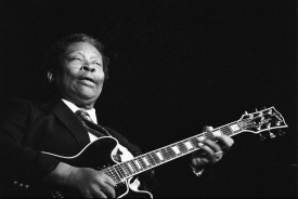 The great B.B. King in   concert. France, 1989
