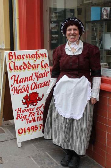 Blaenafon cheese shop Wales