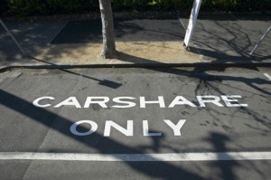 Carshare only parking is becoming more common
