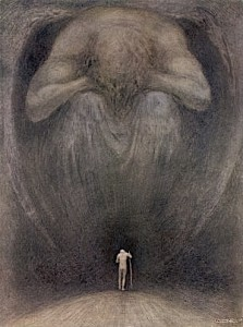 """Yea Though I Walk Through the Valley of the Shadow of Death I Will Fear No Evil"" by Frank C. Pape"