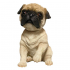 Bobbleheaded pug dog toy