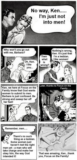 Lesbian rights-comic strip