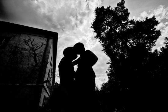 Romantic couple in embrace