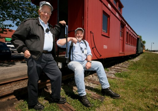 Doug and Gilbert at the Portland Railway Museum