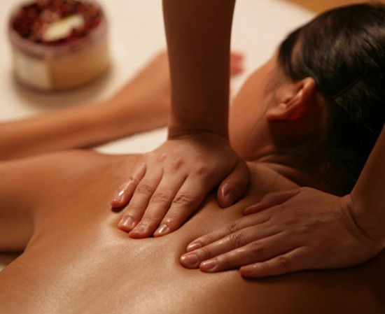 Woman Receiving Massage