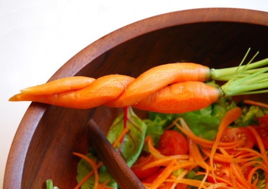 Carrot and salad