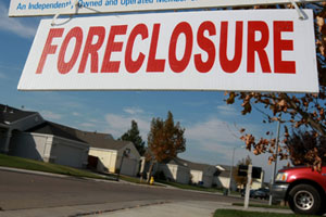 A sign is seen in front of a foreclosed home on Nov. 19, 2008, in Rio Vista, Calif. (Justin Sullivan/Getty Images)