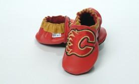 Calgary Flames Baby Booties