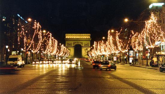 Champs Elysee at Christmas - Paris, France