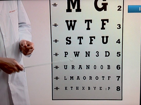 WTF on eye exam chart