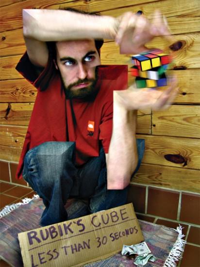 Man with Rubik's Cube, corutesy of Boing Boing