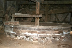 An old wooden apple press