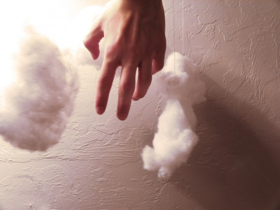 Hand and clouds