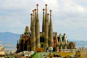 Sagrada Familia, Gaudi's cathedral in Barcelona, Spain