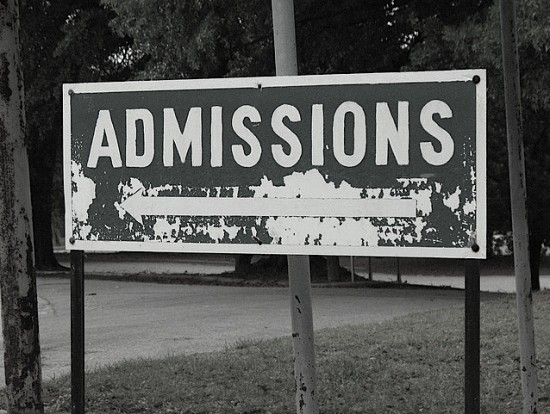 Psychiatric Hospital Admissions Sign