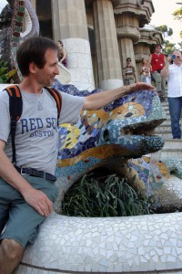 Darcy Rhyno with Parc Guell lizard