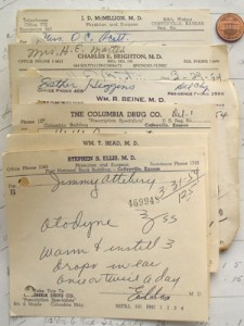 Old medical prescriptions