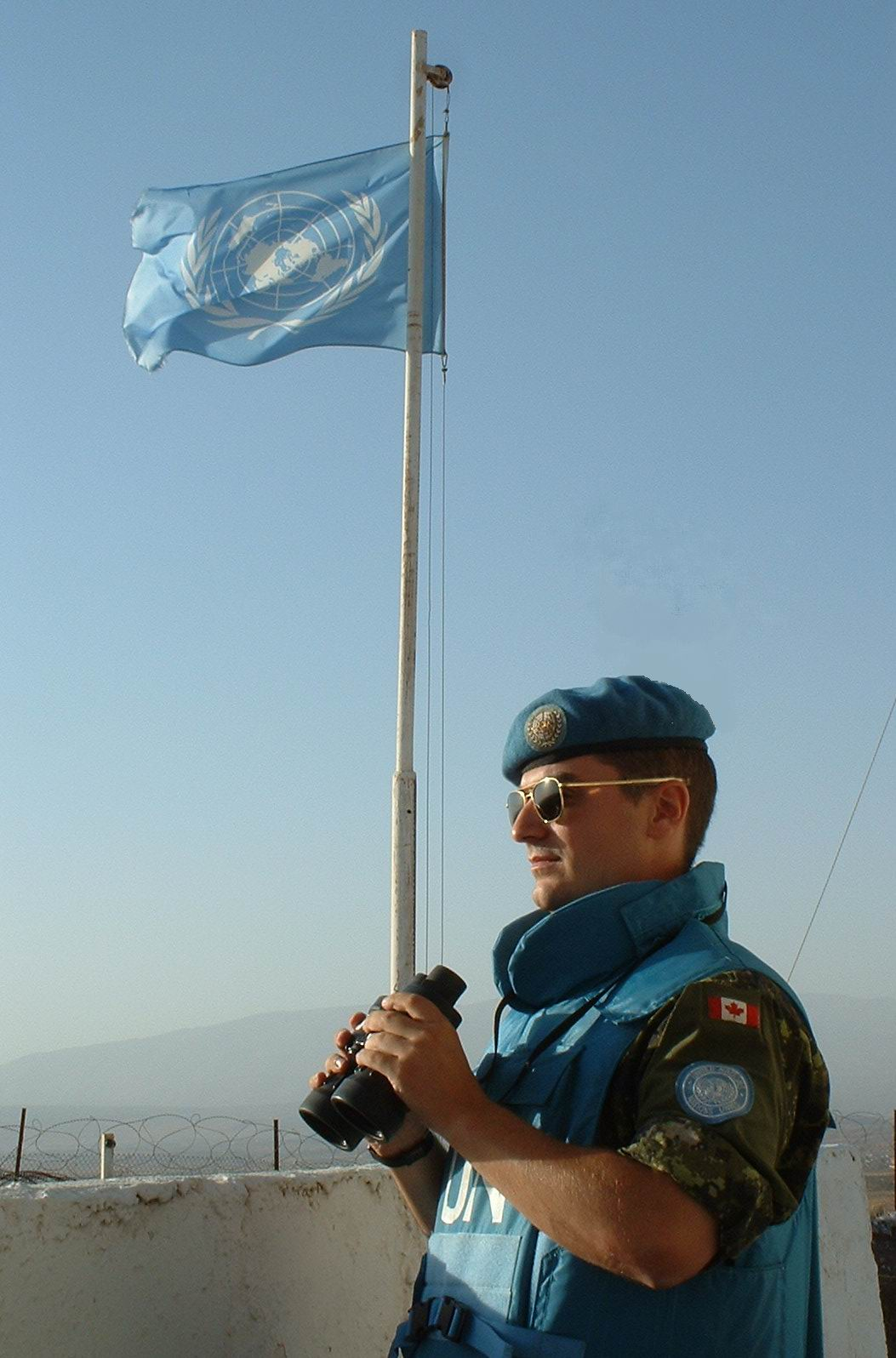 Lieutenant(N) Bennett R. Coles observing in the Golan Heights