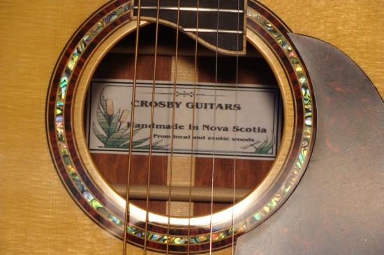 Rosette in Crosby guitar