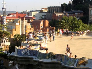Terrace in Parc Guell