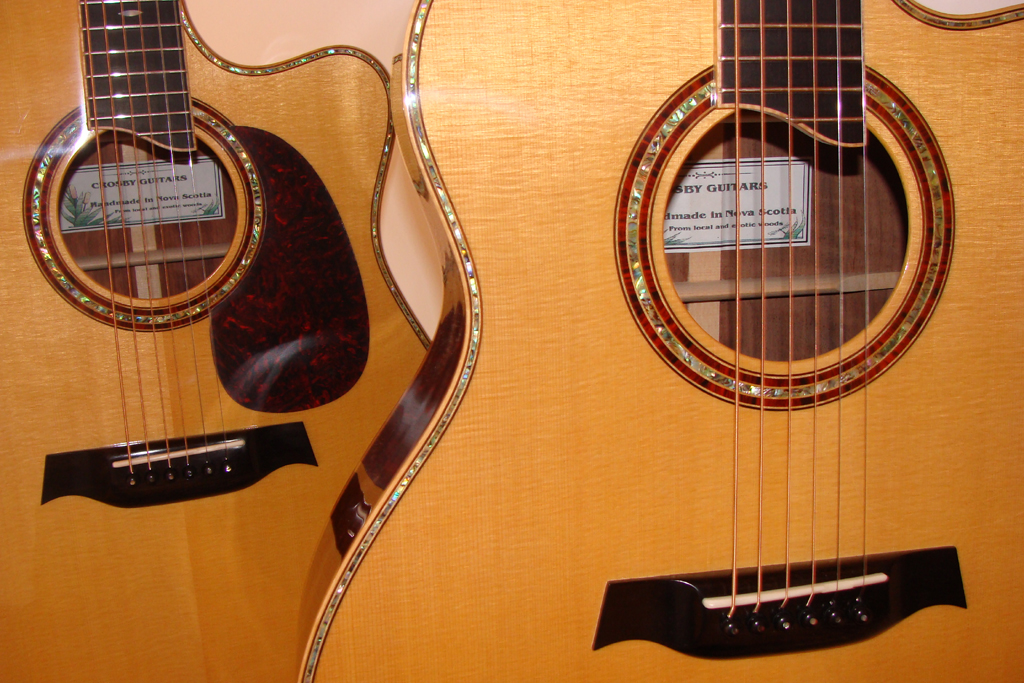 Two Crosby guitars.