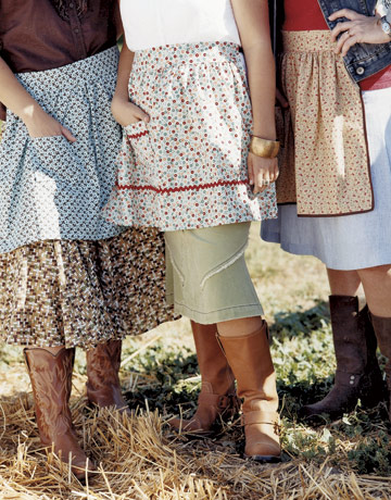 Prairie Aprons from Country Living