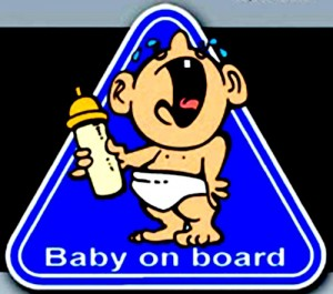 Crying baby  on board