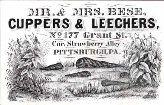 Bloodletting by leeches, Pittsburgh medical ephemera