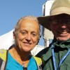 Canadian running legend Jacqueline Garreau with Bill Henderson
