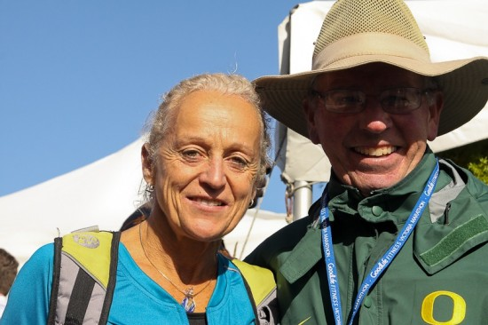 Canadian running legend Jacqueline Gareau with Joe Henderson