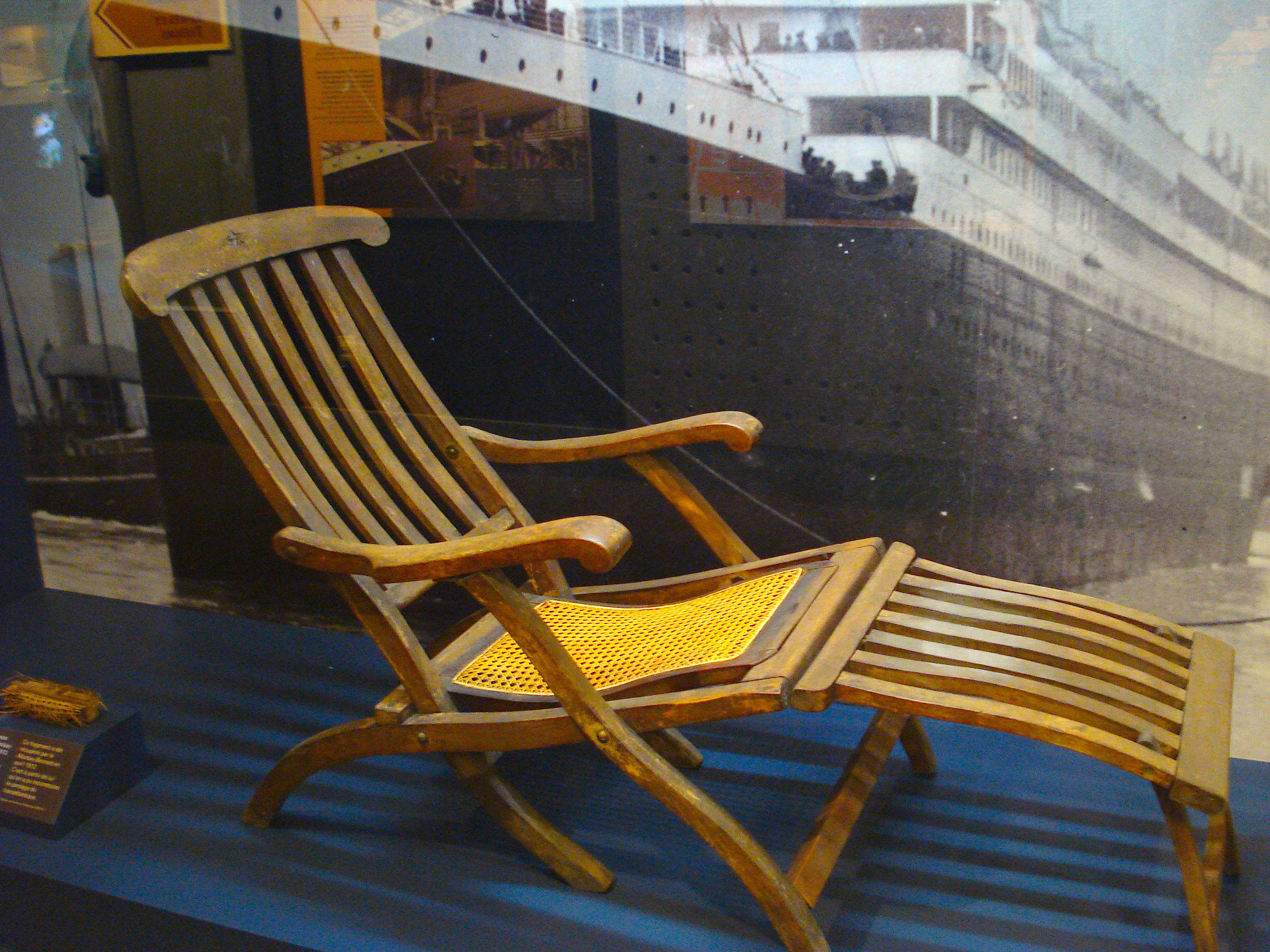 Pin Titanic Deck Chair on Pinterest