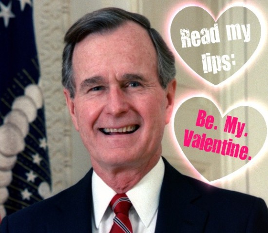 George HW Bush valentine
