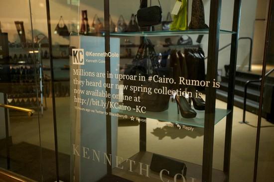 Kenneth Cole tweet window decal