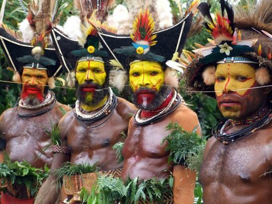 Huli Wigmen of New Guinea