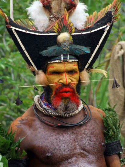 A Huli Wigman in full regalia.