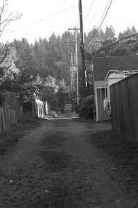 Alley in black and white © Michael Lebowitz