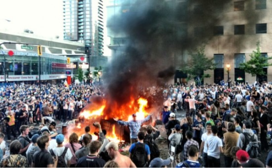 2011 Vancouver riot following Standley Cup Finals