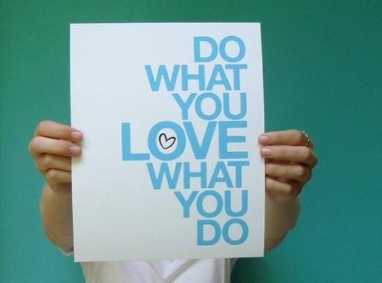 Do you love what you do - art card