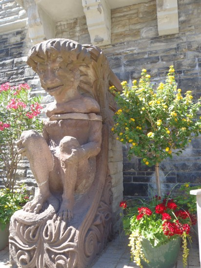 Gargoyle in the garden.