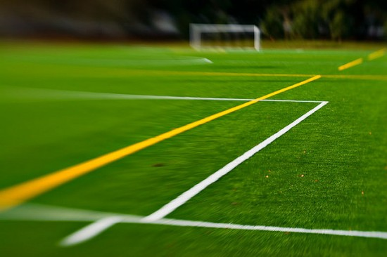 Soccer turf tilt shift