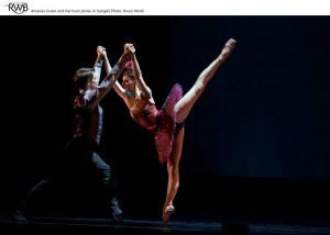 Svengali (Harrison James) and Trilby (Amanda Green) - Royal Winnipeg Ballet