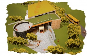 An artist's conception of the new interpretive centre in Birchtown to be completed by July 2013 that will tell the story of the Black Loyalists.