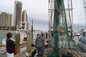 Shrimp Boats and Corpus Christi Skyline