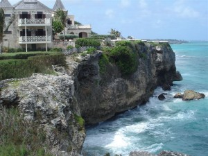 The coral cliffs at The Crane