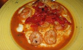 Chef Brian's spicy shrimp & grits Tupalo Honey Cafe