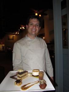 Posana chef Peter Pollay with dessert assortment