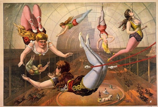 Circus Postcard from 1890