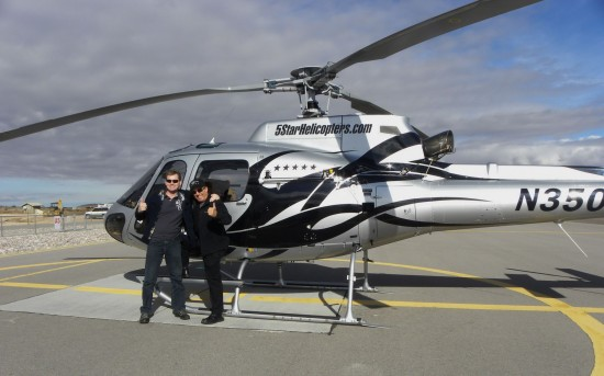 Author and pilot Mike with five star grand canyon tours