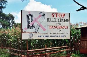 Campaign Road Sign in Uganda
